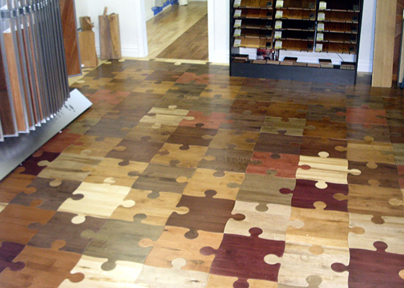 Wood Puzzle Hardwood Flooring Design